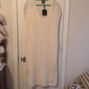 Massimmo Dutti. Cream knitted dress